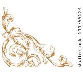 gold vintage baroque corner... | Shutterstock .eps vector #511799524