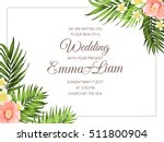 tropical wedding party... | Shutterstock .eps vector #511800904