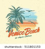tropical sunset. surf and beach.... | Shutterstock .eps vector #511801153