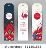 vector vertical tags with...
