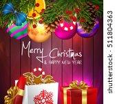 christmas. background merry... | Shutterstock .eps vector #511804363