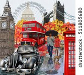 london vintage poster. | Shutterstock .eps vector #511805680