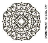 coloring book mandala. circle... | Shutterstock .eps vector #511807429