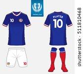 set of soccer kit or football... | Shutterstock .eps vector #511810468