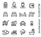 hotel icons. line style stock... | Shutterstock .eps vector #511813738