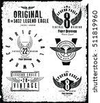 college label set. for t shirt... | Shutterstock .eps vector #511819960