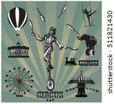 circus and amusement park... | Shutterstock .eps vector #511821430