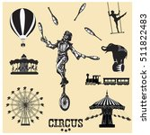 circus and amusement park... | Shutterstock .eps vector #511822483