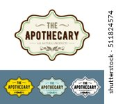 vintage   apothecary style label | Shutterstock .eps vector #511824574
