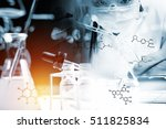 scientist with equipment and... | Shutterstock . vector #511825834