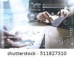 medical technology network team ... | Shutterstock . vector #511827310