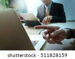 business team present.... | Shutterstock . vector #511828159