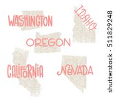 washington  idaho  oregon ... | Shutterstock . vector #511829248