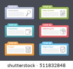set of infographic elements... | Shutterstock .eps vector #511832848