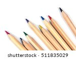 Color Pencils Isolated On White....