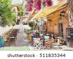 charming street in the old... | Shutterstock . vector #511835344