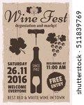 wine event vintage promotional...   Shutterstock .eps vector #511839769