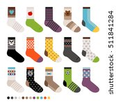 childrens socks. vector long... | Shutterstock .eps vector #511841284