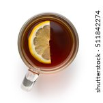 tea in glass cup with sliced... | Shutterstock . vector #511842274