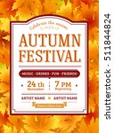 autumn festival invitation.... | Shutterstock .eps vector #511844824