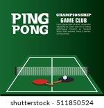 ping pong equipment sport | Shutterstock .eps vector #511850524