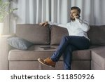 young bearded businessman ... | Shutterstock . vector #511850926