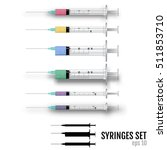 medical equipment syringe. | Shutterstock .eps vector #511853710