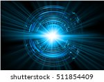 future technology  blue cyber... | Shutterstock .eps vector #511854409