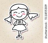 hand drawing cartoon concept... | Shutterstock .eps vector #511855309