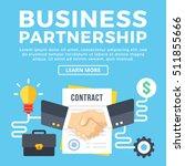 business partnership  contract... | Shutterstock .eps vector #511855666