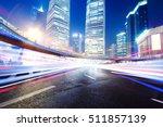 the light trails on the modern...   Shutterstock . vector #511857139