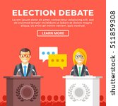 election debate. presidential... | Shutterstock .eps vector #511859308