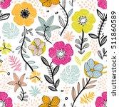floral seamless pattern | Shutterstock .eps vector #511860589