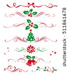 winter set of decorative... | Shutterstock .eps vector #511861678