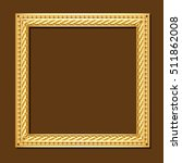 Square Frame Gold Color With...