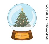 lovely snowglobe with a... | Shutterstock .eps vector #511864726