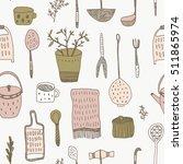 vector hand drawn seamless... | Shutterstock .eps vector #511865974
