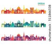 India Skyline. Vector...