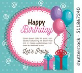 happy birthday celebration card | Shutterstock .eps vector #511867240