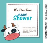 baby shower invitation with... | Shutterstock .eps vector #511867300