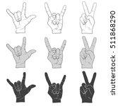 three hand signs gestures...   Shutterstock .eps vector #511868290