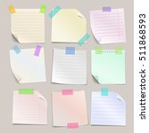 stick note papers set.... | Shutterstock . vector #511868593