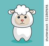 cute sheep stuffed icon | Shutterstock .eps vector #511869646