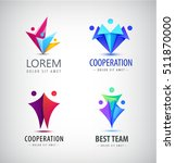 set of human icons. vector... | Shutterstock .eps vector #511870000