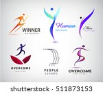 vector set of man logo  human... | Shutterstock .eps vector #511873153