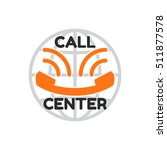 logo call center in flat style  ... | Shutterstock .eps vector #511877578