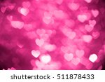 Pink Heart Bokeh Background...