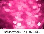 Pink Heart Bokeh Background...