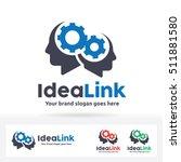 idea link logo. human heads... | Shutterstock .eps vector #511881580