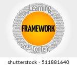framework circle word cloud ... | Shutterstock .eps vector #511881640